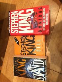 3 Stephen King books