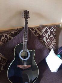 santa ana semi accoustic guitar and amp
