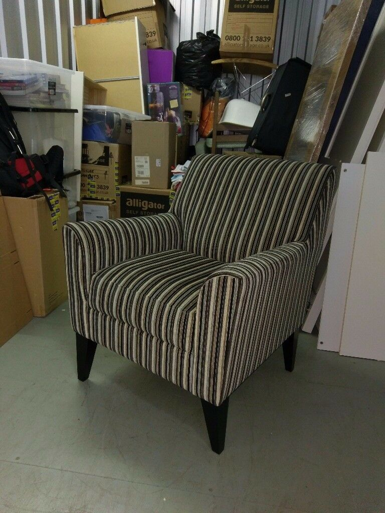 Next Armchair and footstool Contemporary stripes | in ...