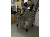 Next Armchair and footstool Contemporary stripes