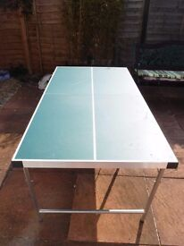 Table tennis table - folds for storage