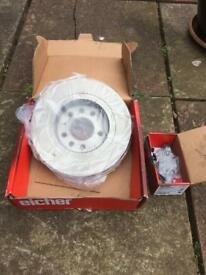 VAUXHALL VECTRA C 1.9CDTi REAR BRAKE DISC AND PADS