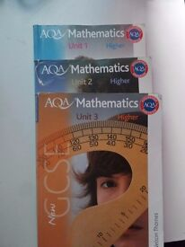 AQA 1, 2 & 3 books GCSE Mathematics Higher. Just £15 for the 3 books!