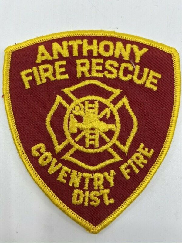 US Anthony Coventry District Fire Department Patch Obsolete