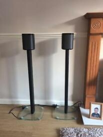 Sonos play 1 black speaker stands