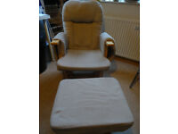 Nursing rocking chair and stool S8