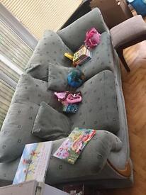 2 x sofas. Green fabric. Free.