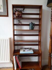 Mid century solid teak shelf unit