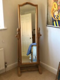 Pine freestanding mirror