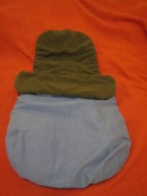 [Accessories] Stroller/Pushchair/Pram Footmuff blue with fleece lining 6-12m