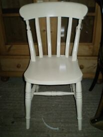 White Country Dining Chair
