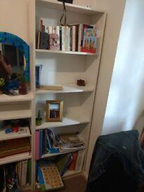 180 cm, 5 shelf bookcase