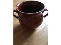 Large Ceramic Casserole / Stew pot with lid