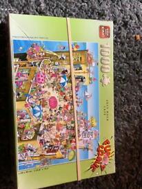 6x 1000 piece jigsaw puzzles