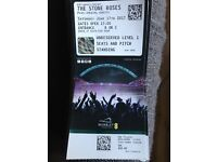 4 x Stone Roses Wembley Face Value Unreserved Level 1 Seats and Pitch Standing Tickets