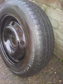 vw steel rims in black with good tyres and vw centre caps 175/65/14