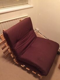 Chocolate brown single futon