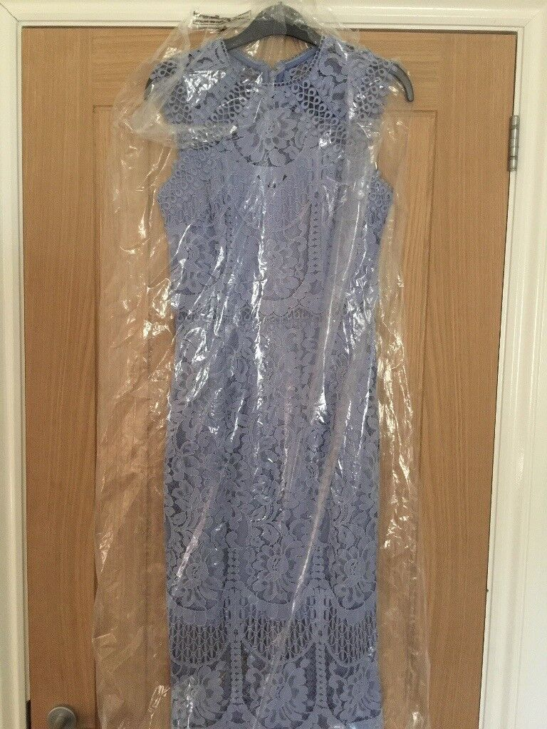 aa1e723d6a7e Lipsy VIP Embroidered Lace Midi Dress Size 6 brand new
