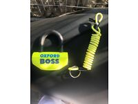 Oxford chain lock and Oxford disc lock with reminder cable