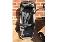 Quinny travel system with cot, Buggy Board & Easy Fix car seat base