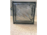 8 Vetra Glass Blocks - Diagonal Grey 19x19x8cm Plus Adhesives & Grout. NEW
