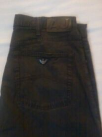 2 PAIRS OF MENS DESIGNER JEANS / 1 X ARMANI + 1 X VERSACE / COMBINED COST £300 / PERFECT CONDITION!