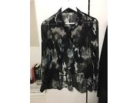 H&M Smart Shirt Black Buttonup