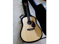 Martin DX1K dreadnought acoustic guitar and martin hard case