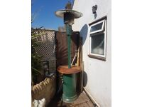 out back patio heater good condition comes with gas bottle but is empty need gone asap