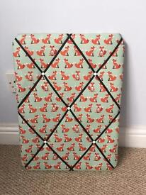 Brand new upholstered pinless noticeboard