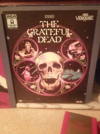 "VIDEODISCs, ""THE GRATEFULL DEAD"", & ""ROXY MUSIC""."