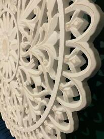 Floral-Patterned MDF Wall Panel Art Home Deco ORNATE VINTAGE DESIGN Timber