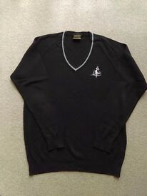 BLACK COTTINGHAM HIGH SCHOOL KNIT SWEATER 42in/106 cm