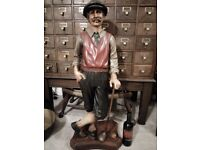 large golf statue 1 metre tall with wooden golf club