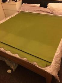 Lime green blackout blinds