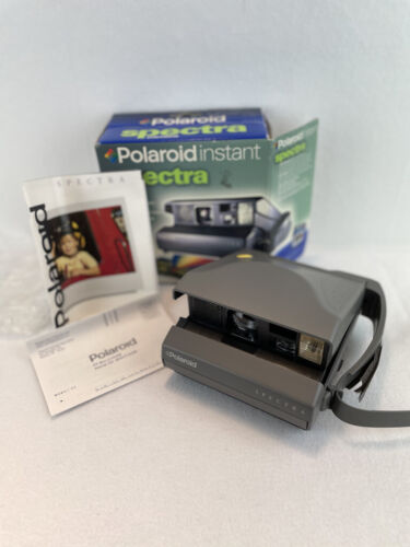 Vintage Polaroid Instant Spectra Camera with Original Box and Manuals