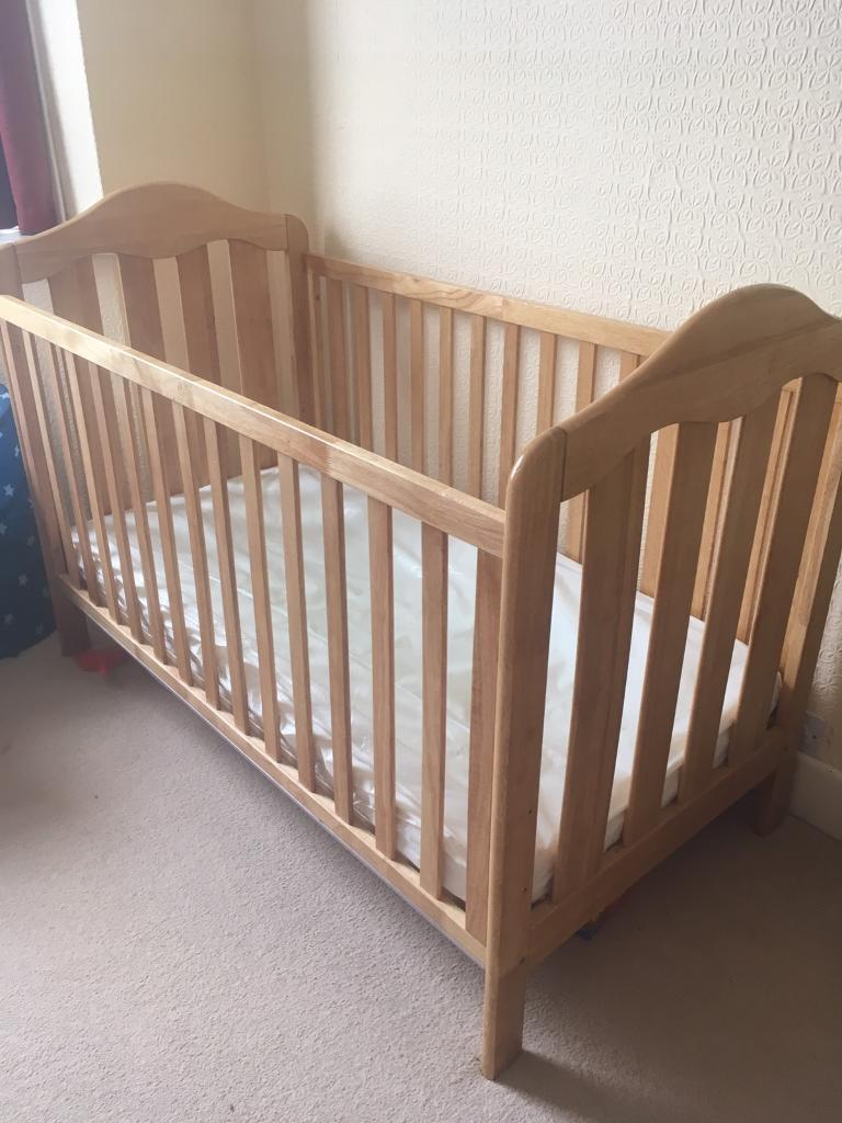 Cot (that can be turned into toddler bed)