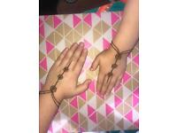 Henna tattoos using natural ingredients- from body art to bridal work. Prices upon request