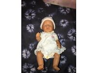 BABY BORN doll (girl) and carry seat