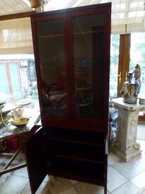 Beautiful Glass and cupboard Mahogany Display Cabinet