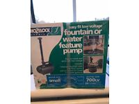 Hozelock easy fit low voltage fountain / water pump feature (New still sealed in box)