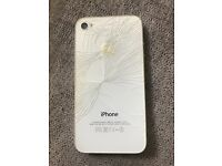 iPhone 4s smashed on back nothing bad