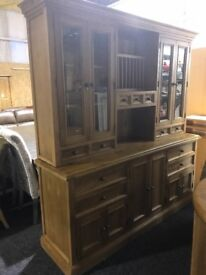 BRAND NEW SOLID OAK LARGE DISPLAY RRP 1300, now 699