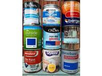 Assorted tins of paint 750 ml
