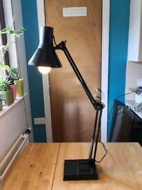 Retro / vintage Micro-mark black angle-poise style desk lamp £60