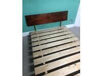 Warren Evans King Size pine bed frame.