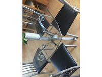 Glass table and four chair