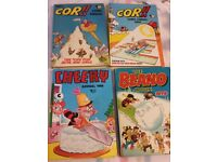 10 Vintage Annuals: COR X2,Beano,Dandy x2,Asterix,Cheeky,Sparky,Whoopee,Whizzer