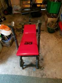 Weight bench and weights for sale