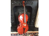 Quarter size cello, bow and case. Bought from Gear4music